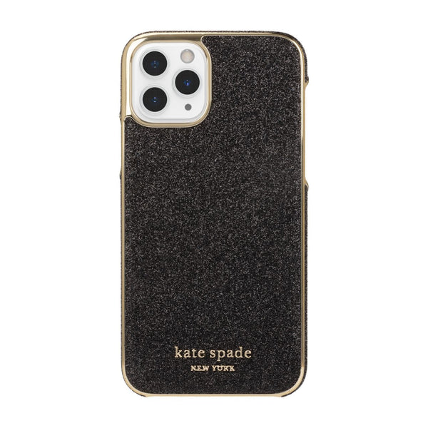 Kate Spade New York Wrap Case for iPhone 11 Pro Black Munera Gold PC/Gold Logo