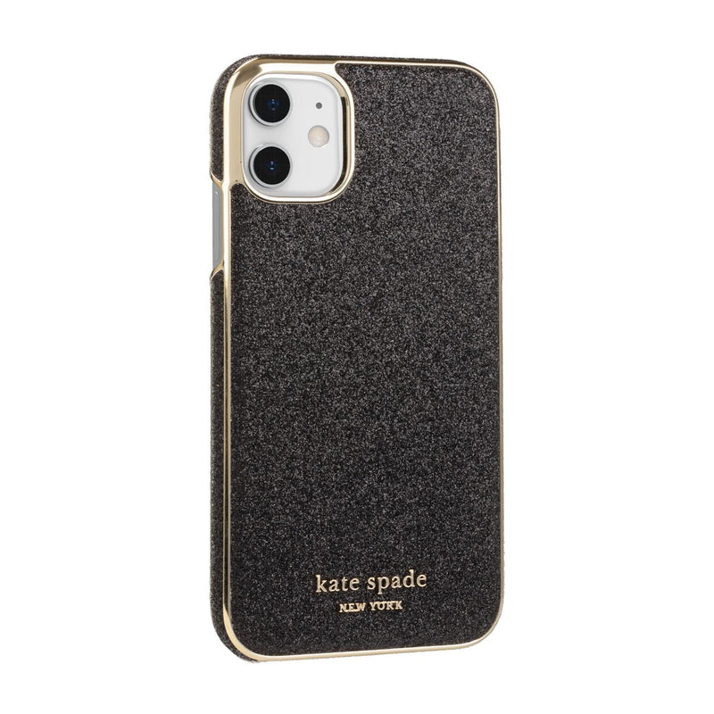 Kate Spade New York Wrap Case for iPhone 11 Black Munera Gold PC/Gold Logo