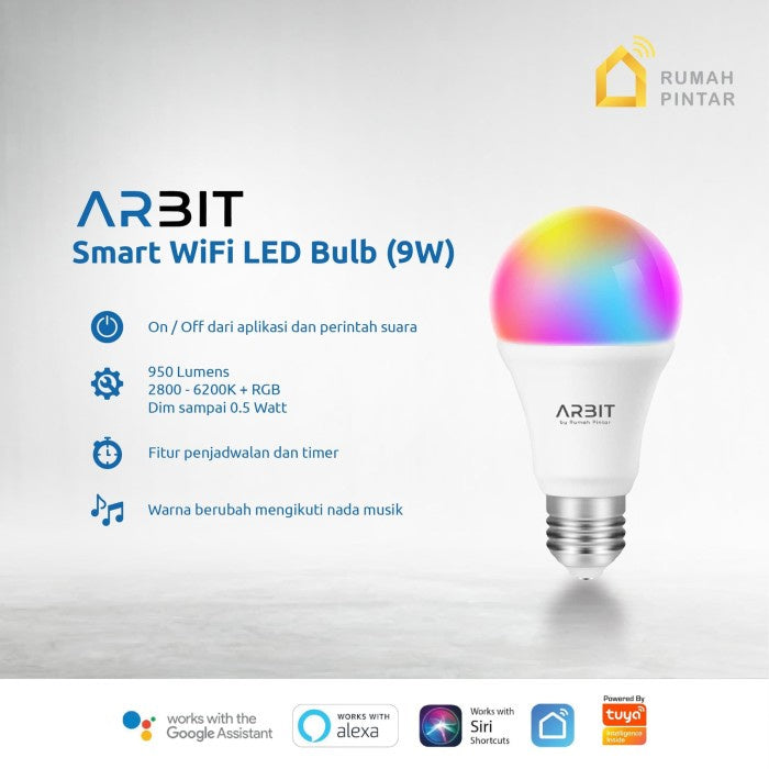 ARBIT - Wifi Smart Bulb LED 9W RBG + CCT