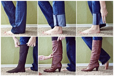 Wear jeans neatly with boots