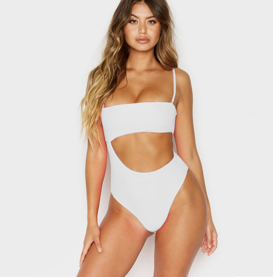 Women Sexy High Cut Hollow Swimsuit