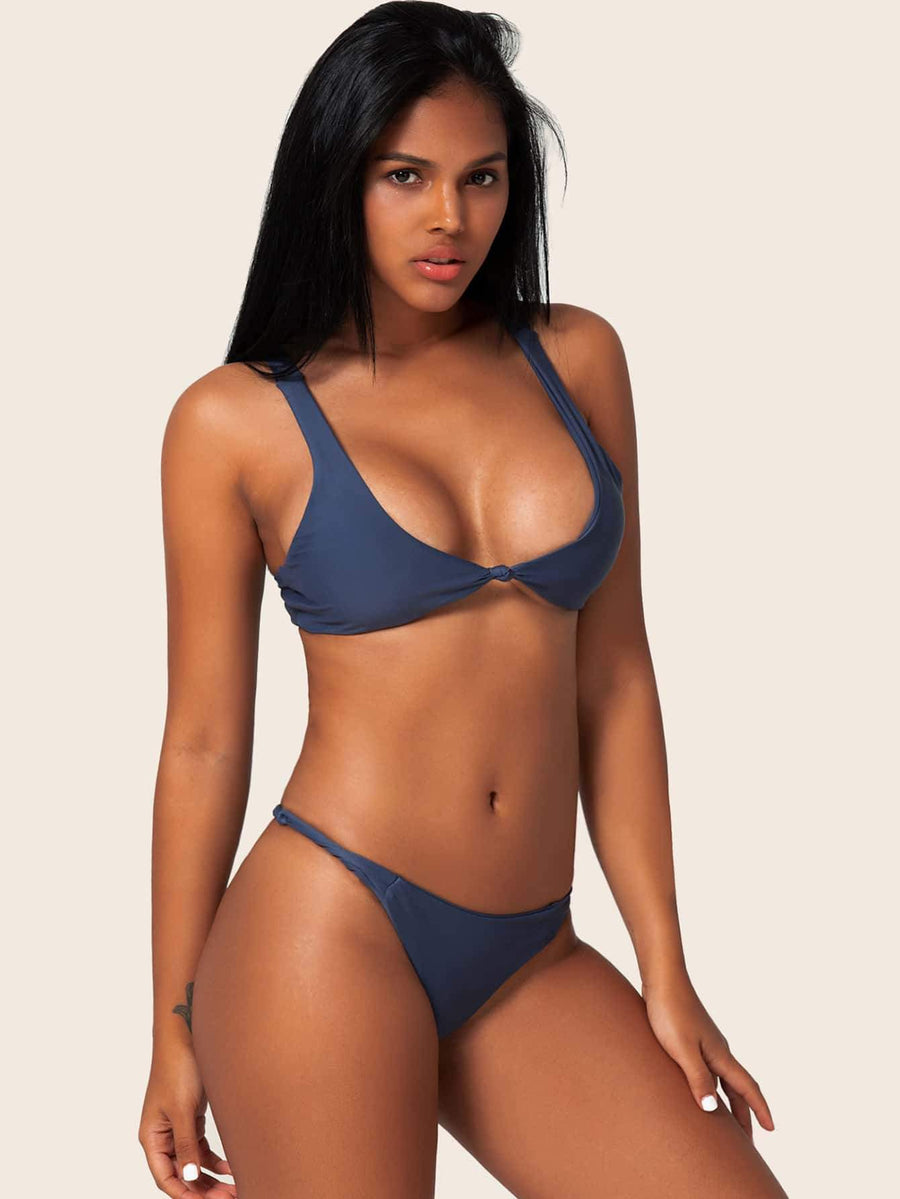 Twist Front Top Swimwear