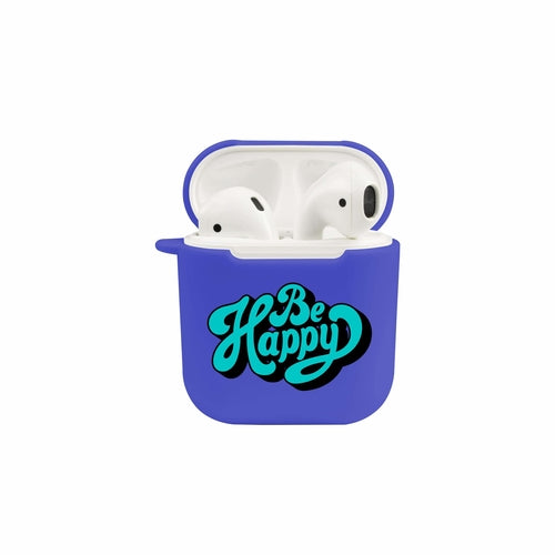 Soft Airpod Protective Case - BE HAPPY