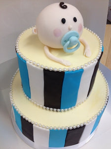 2 tier baby face cake