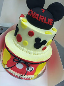 2 tier MICKEY MOUSE EARS cake