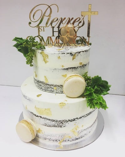 2 tier Naked GREENERY cake