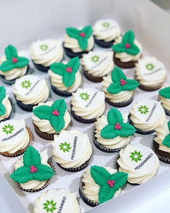 24 MINI corporate CHRISTMAS cupcakes
