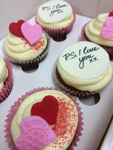P.S  I love you Valentine's day- 6  reg cupcakes