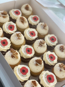 24 mini ANZAC DAY cupcakes