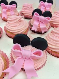 MINNIE MOUSE EARS + BOW 12 CUPCAKES