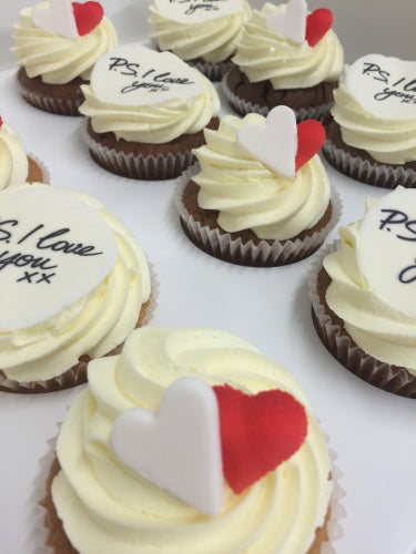 P.S I Love You image -Valentine's day cupcakes