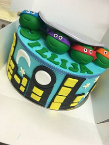 NINJA TURTLE  TMNT TRASH CAN  cake