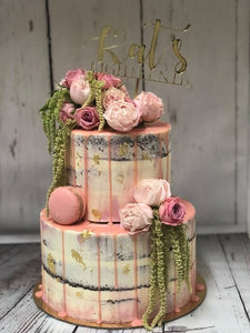 2 tier KYLIE naked cake