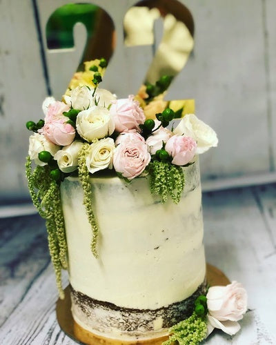"6"" KYLIE  double stack cake"
