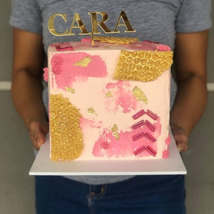 CARA GOLD SQUARE tall cake