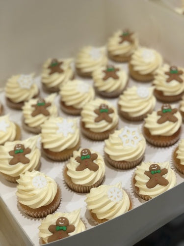 24 - GINGERBREAD CHRISTMAS cupcakes