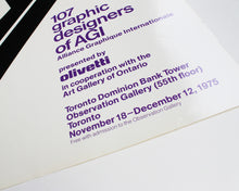 Load image into Gallery viewer, 107 Graphic Designers of AGI: Franco Grignani [Large Poster]