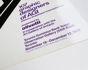 107 Graphic Designers of AGI: Franco Grignani [Large Poster]