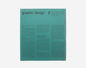 Graphic Design: A Quarterly Review ..., No. 7, April 1962 [Kazumasa Nagai]