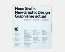 Load image into Gallery viewer, Neue Grafik / New Graphic Design / Graphisme actuel — Issue No. 16, 1963
