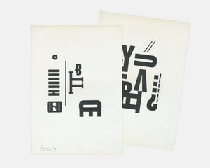Two Experimental Typographic Prints [Unknown]