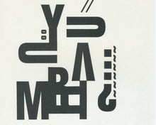 Load image into Gallery viewer, Two Experimental Typographic Prints [Unknown]