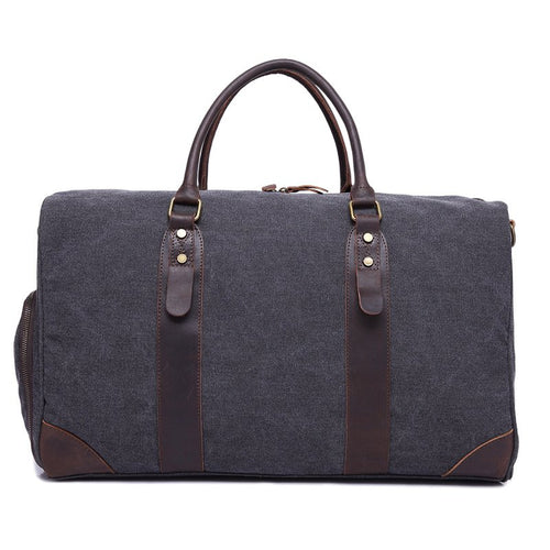 Paris Duffel Canvas Leather Trim Weekender