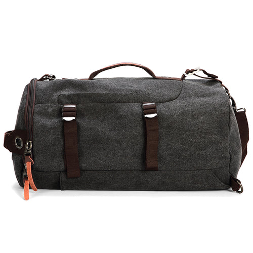 Washed Canvas Leather Travel Backpack