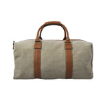 Monaco Duffel Canvas Leather Travel Bag
