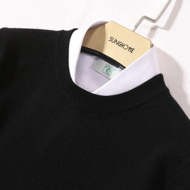 100% Cashmere O-neck Sweater