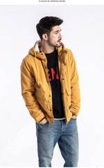 Slim Fit Thick Velvet Parka