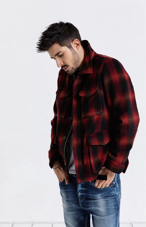 Woolen Plaid Jacket