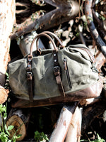 Canvas Leather Travel Duffel Bag