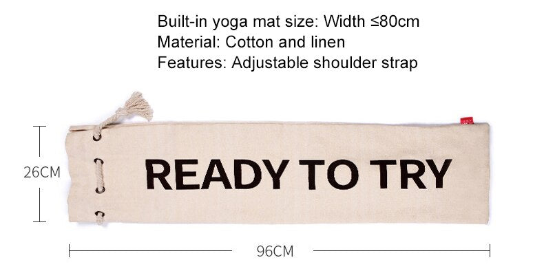 Cotton-style Yoga Mat Bag