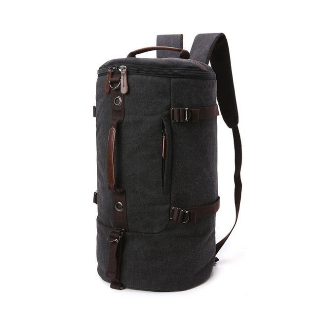 Vintage Canvas Barrel Backpack