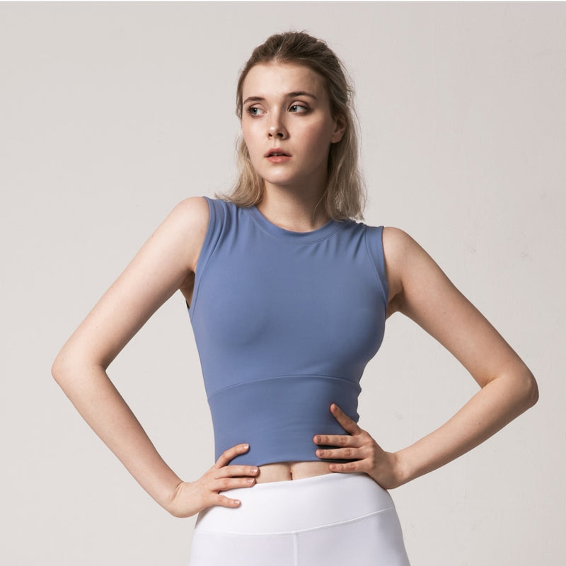 Yoga Top Solid Colour