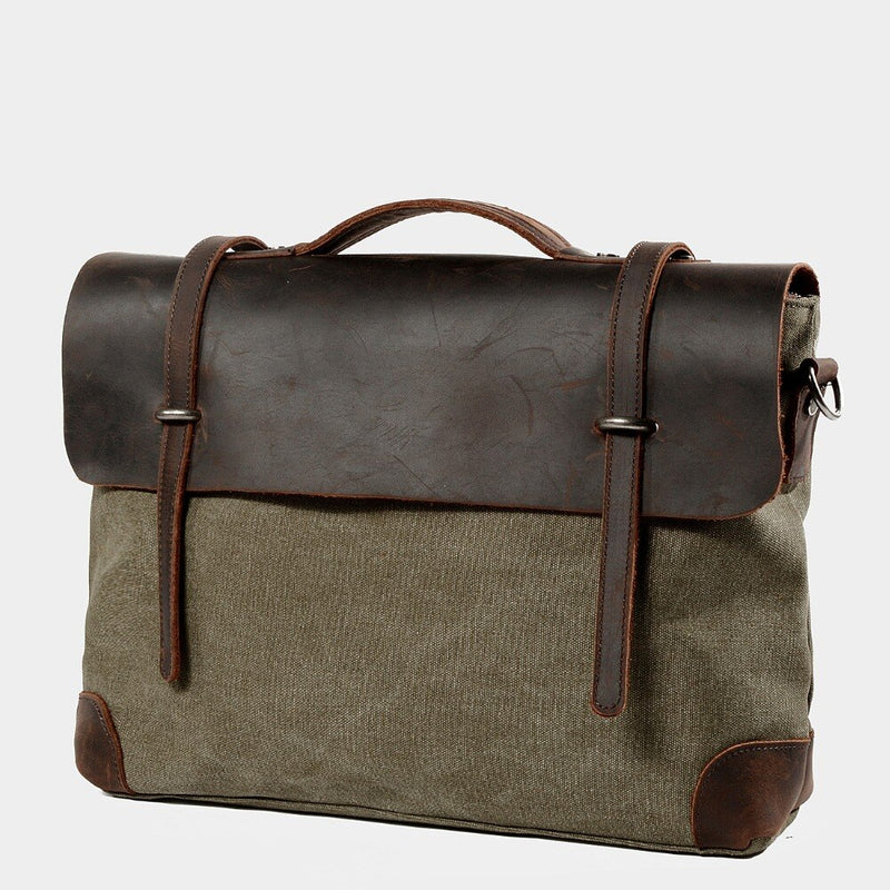 Canvas Single ue Satchel Briefcase