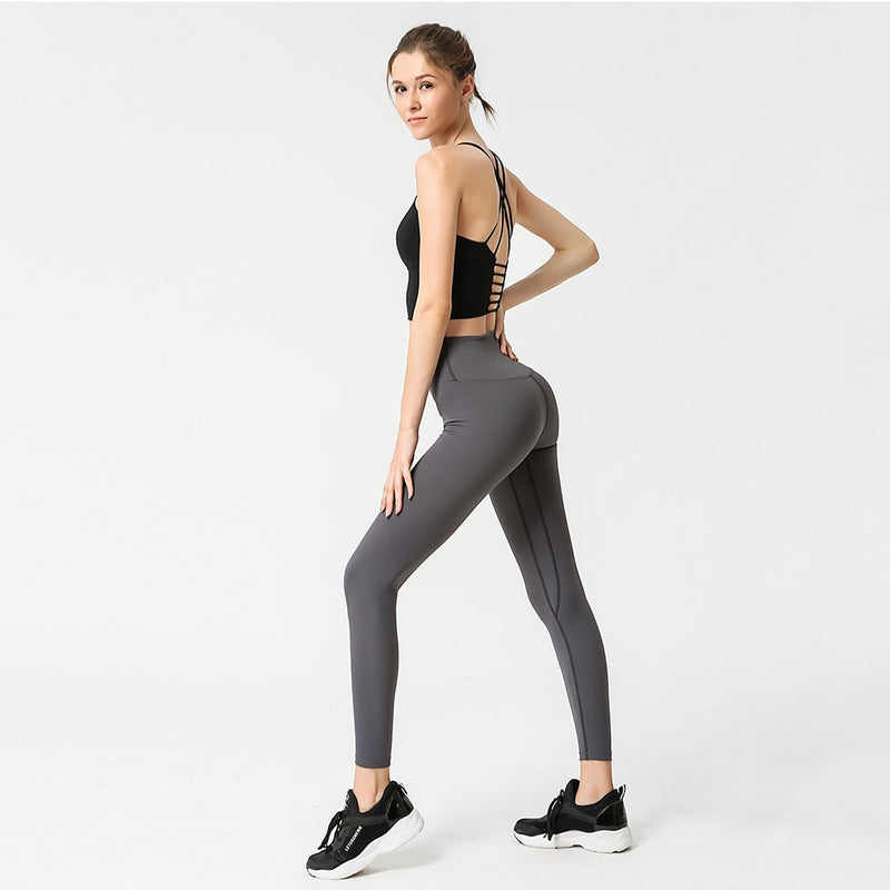 Seamless Yoga Set Yoga Top/Bra High Waist Leggings