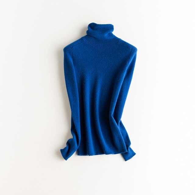 Turtleneck Slim Fit sweater 100% cashmere