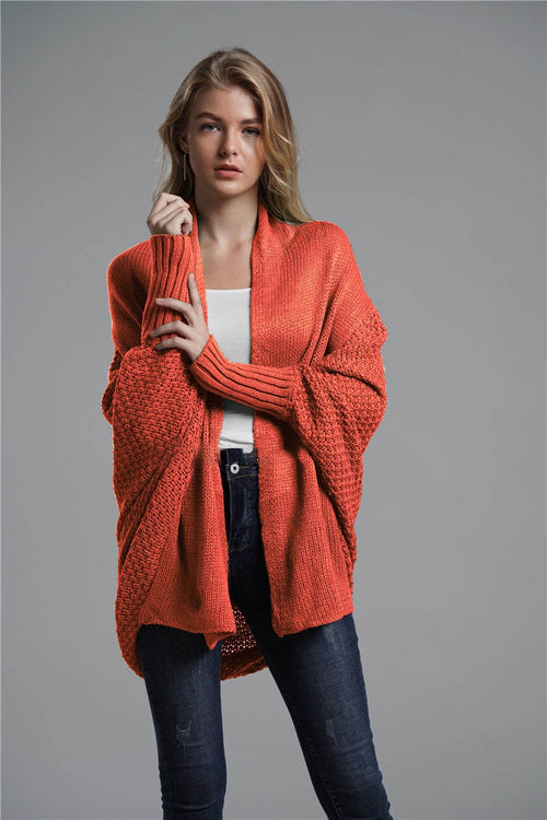 Oversized Batwing Sleeve Cardigan