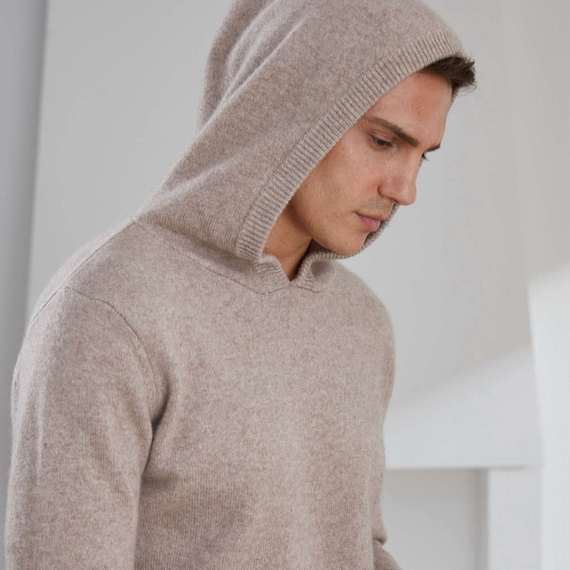 Thick Warm 100% Goat Cashmere Long sleeve Pullover