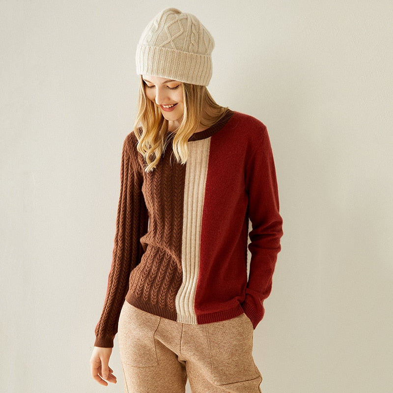100% Pure Cashmere Multi Colour Pullover