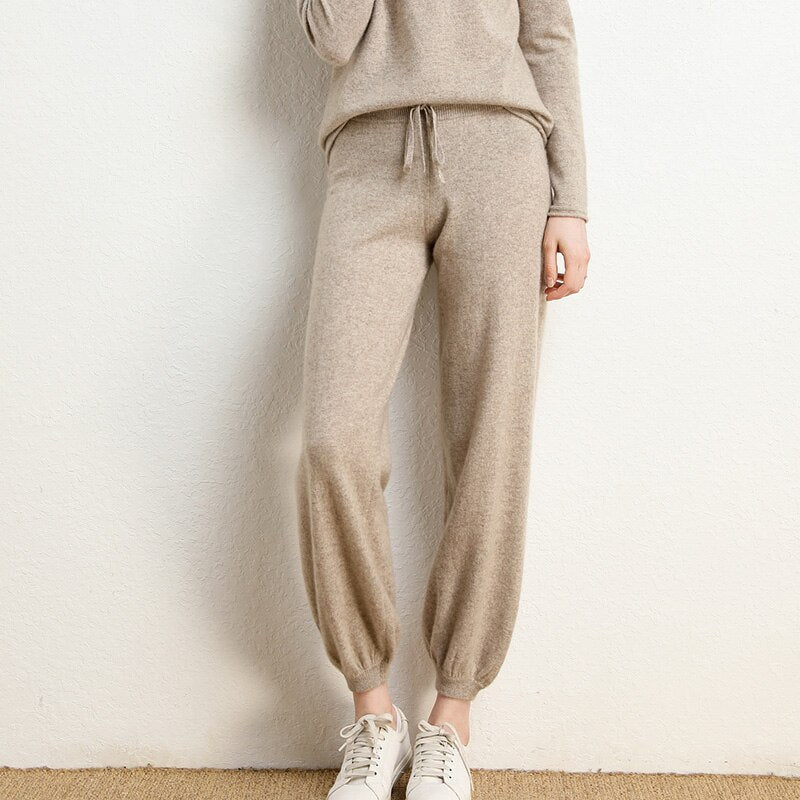 Mid Rise Cashmere Joggers