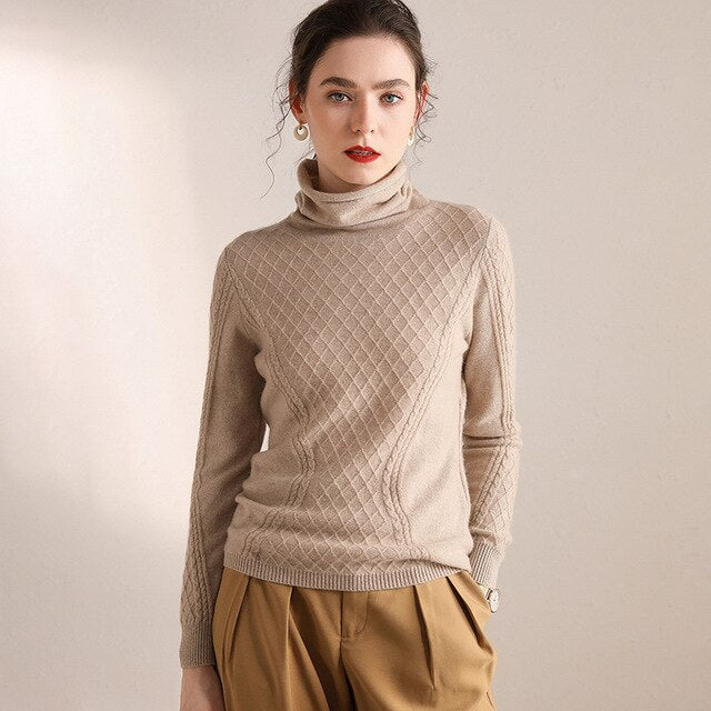 100% Pure Cashmere Pattern Pulllover