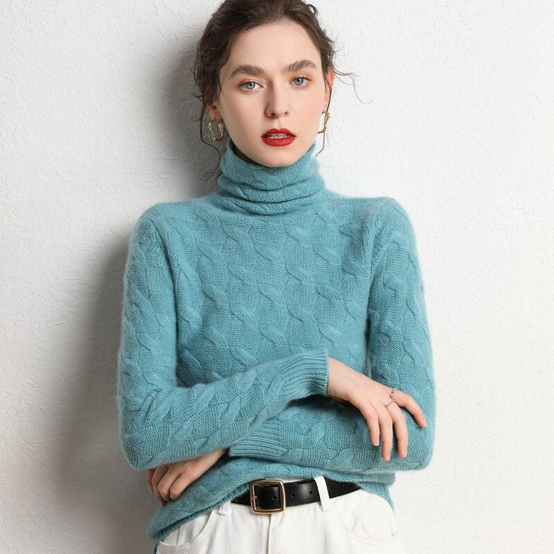 Languid Wind Turtleneck Cashmere Pullover