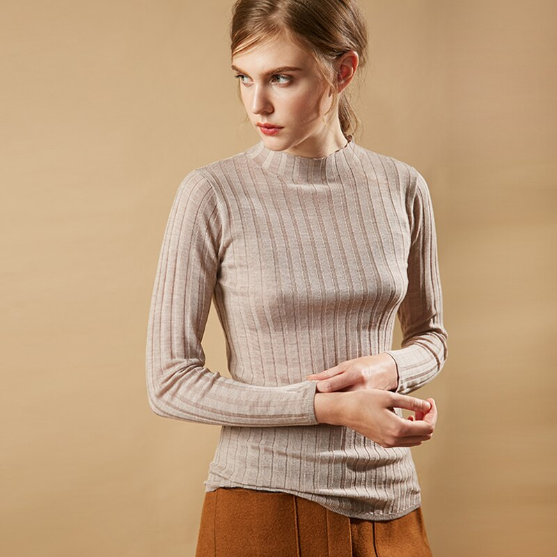 Long Sleeve Turtleneck Knit Sweater