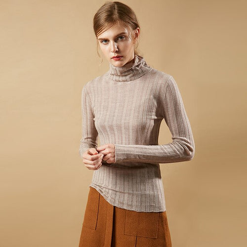 100% PAMIR Wool High-Neck Sweater