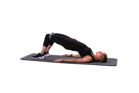 Resistance Band Glute Bridge