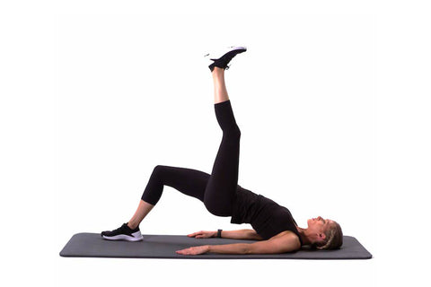 Single-Leg Glute Bridge Reach