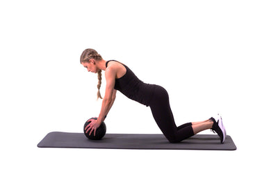 Modified Med Ball Plank
